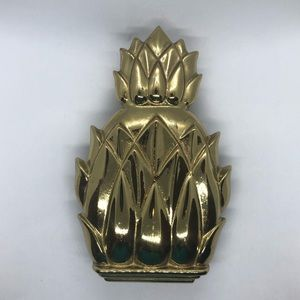 "Vintage Brass Pineapple Door Knocker 6.5"" metal"